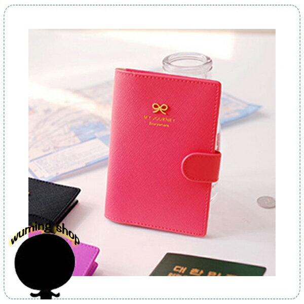 『無名』 磁扣 蝴蝶結 護照包 戶外旅行 證件套 護照夾 旅行收納包 護照套 旅遊收納 隨身包 J04115