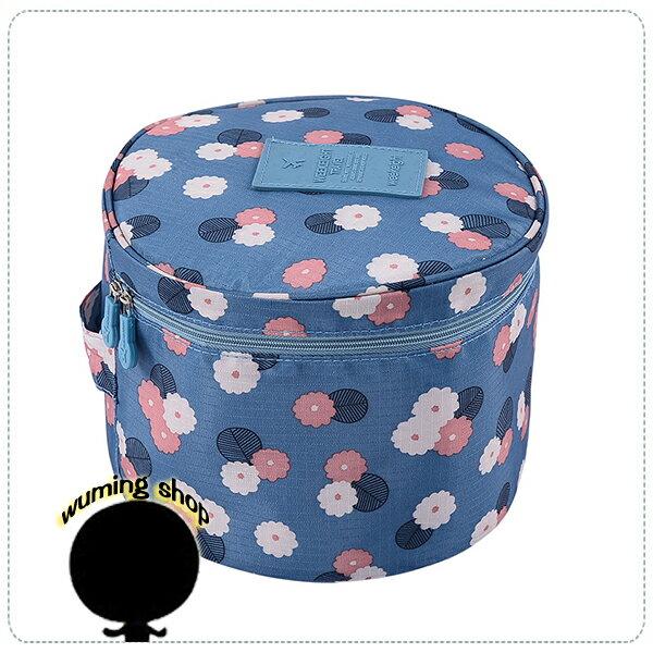 『無名』 韓版 多功能 圓筒 洗漱包 化妝包 旅行 收納包 行李箱 收納袋 整理袋 豹紋 圓桶 J12113
