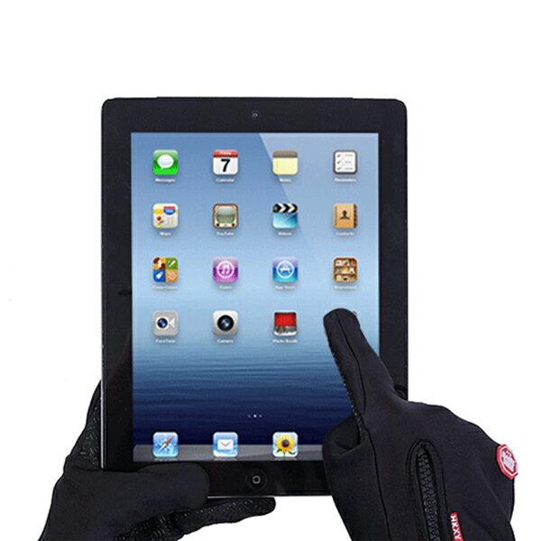 新款 防風 觸控 手套 可滑手機 保暖 防潑水 防寒手套 機車 自行車 騎車 WindsTopper 『無名』 J12125