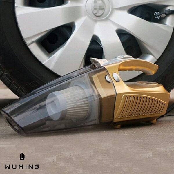 四合一 車用 吸塵器 測胎壓 充氣 迷你 小鋼炮 手提 汽車用 點菸器 車充 充電 車上 打氣 『無名』 K02108