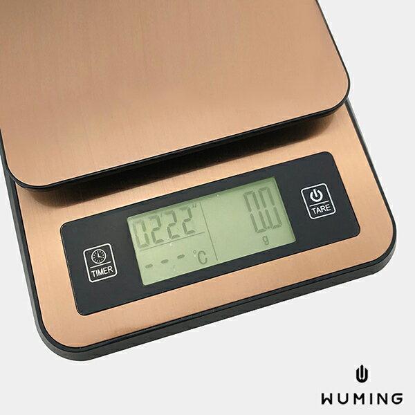 『無名』可測溫度USB電子秤咖啡秤料理秤烘焙秤不鏽鋼金屬液晶顯示精密磅秤廚房N04101