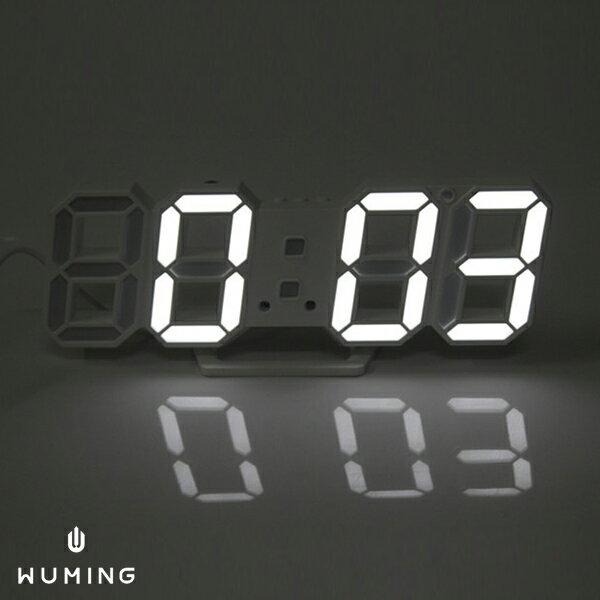立體數字LED創意鬧鐘時鐘電子鐘桌鐘智慧感光多色交換禮物聖誕節『無名』N07105
