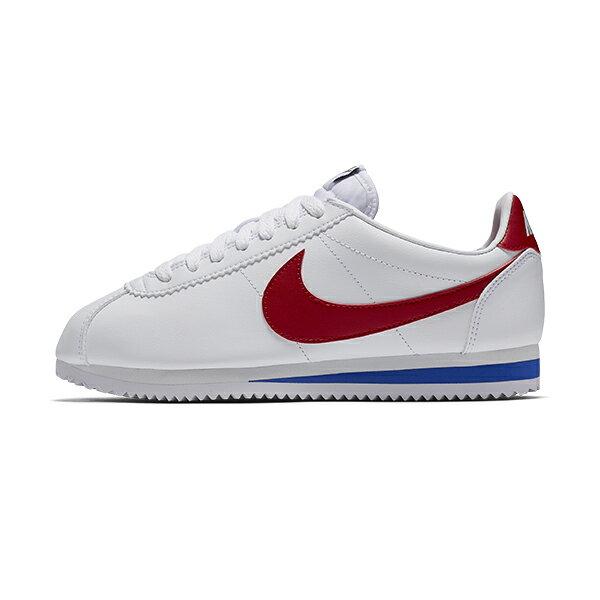 【NIKE】WMNS CLASSIC CORTEZ LEATHER 休閒鞋 阿甘鞋 白色 紅勾 女鞋  -807471103