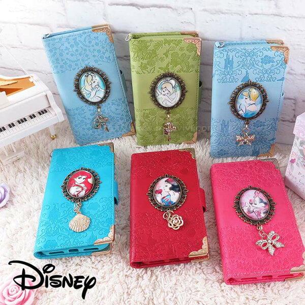 Miravivi:Disney迪士尼iPhoneX時光寶石古典相框皮革壓紋書本皮套