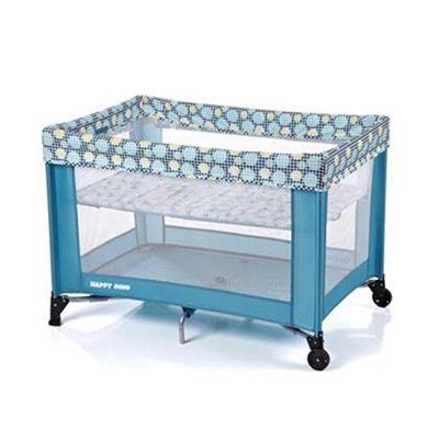 【淘氣寶寶】evenflo 雙層遊戲床 H942T1-W3NL(藍)~附蚊帳