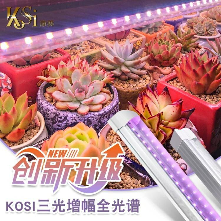 植物補光燈 多肉補光燈 家用上色全光譜LED蘭花卉蔬果育苗仿太陽植物生長燈  免運