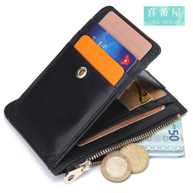 【喜番屋】日韓版真皮頭層牛皮7卡位卡片夾卡片包卡片套卡包卡夾卡套皮夾皮包錢夾零錢包男夾女夾CB124
