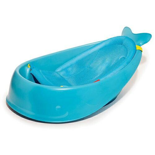 【淘氣寶寶】美國SkipHopMoby鯨魚三階段成長浴盆(含浴網)