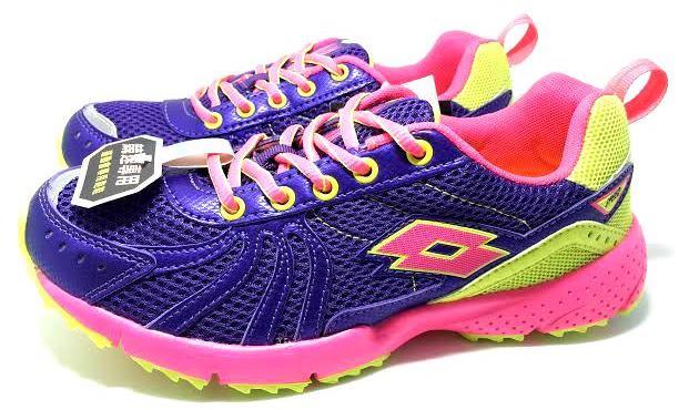 【巷子屋】義大利第一品牌-LOTTO樂得 大童運動會專用跑鞋 競速專用 [2137] 紫 超值價$498