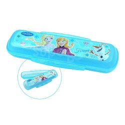 日本 迪士尼 Disney 雙邊扣餐具盒 冰雪奇緣