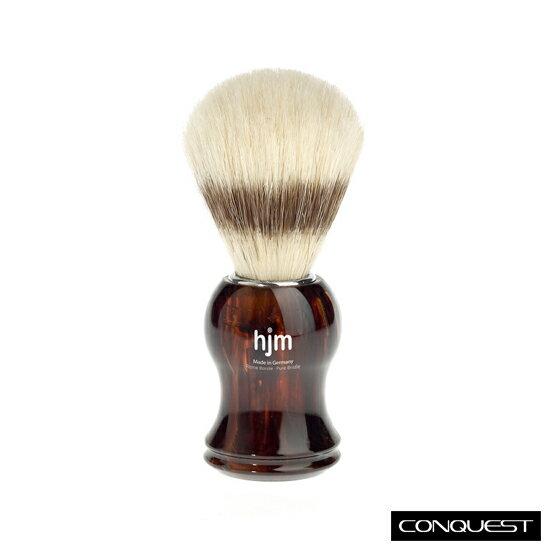 【 CONQUEST 】MUHLE 德國 Shaving Brush 鬍泡刷+收納架組 豬鬃毛 玳瑁琥珀色 入門款推薦
