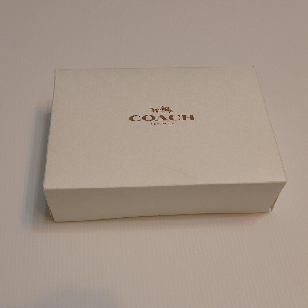 COACH短夾紙盒--白M
