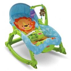 費雪 Fisher-Price 可愛動物可攜式兩用安撫躺椅