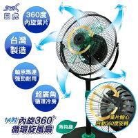 夏日涼一夏推薦[馬達保固3年] 日虎牌14吋360°內旋式循環扇 / MIT台灣製 / 獨家新型專利 / JT-149