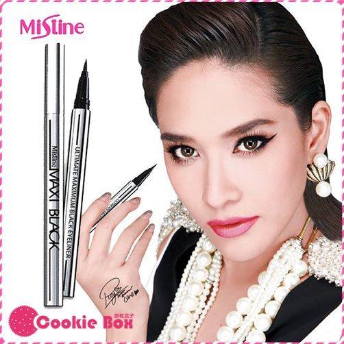泰國 Mistine MAXI Black 魅力四射 全效 眼線液筆 (銀管) 1g 眼線筆 *餅乾盒子*