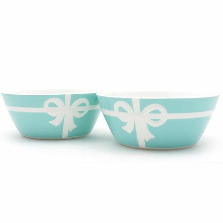 預購。裕子的店。優雅瓷器生活。白色蝴蝶絲帶TIFFANY綠陶瓷茶碗 - 2入一組【jp1220-299】