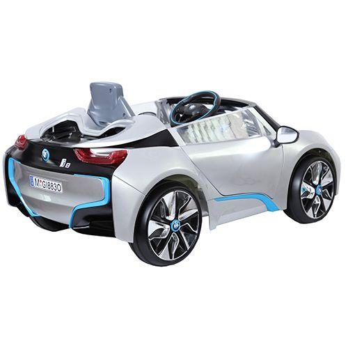 【限時下殺6000含運】【淘氣寶寶】原廠寶馬BMW I8 雙開門 兒童電動車單驅 (附遙控)(銀)W480QG(緩起步)