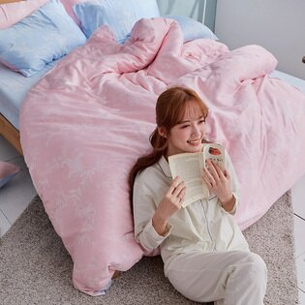 床包被套組雙人加大-100%純天絲【夏綠蒂】40支天絲,含兩件枕套,戀家小舖