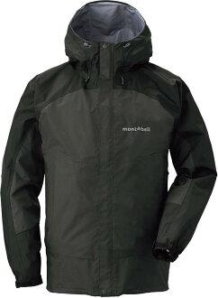 Mont-Bell 雨衣/健行/背包客/玉山/嘉明湖 風雨衣/防水透氣外套 1128344 Thunder Pass BK/GM 男灰黑