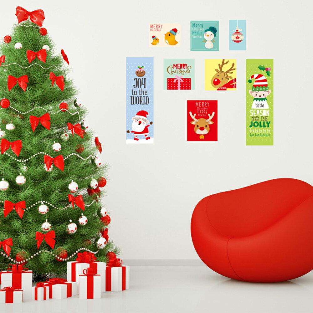 WallFree窩自在★ DIY無痕創意牆貼/壁貼 聖誕節壁貼 聖誕節裝飾 聖誕節 Christmas 聖誕老人 耶誕 JJ803 聖誕照片貼 45x60