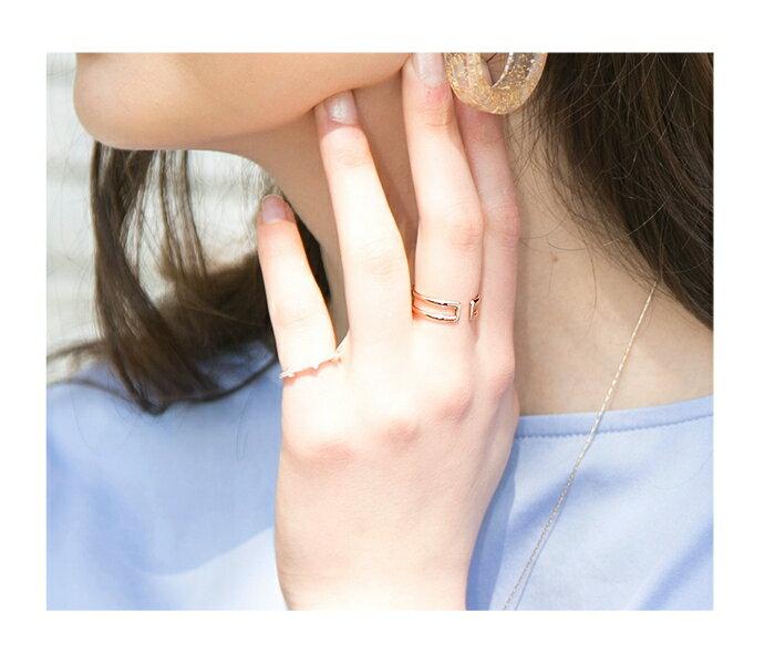 日本CREAM DOT  /  指輪 ダブルライン レディース 重ね着け シルバー ゴールド オープンタイプ ワンサイズ(11号) 細身 華奢リング 結婚式 大人可愛い  /  qc0253  /  日本必買 日本樂天直送(790) 6