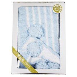 【淘氣寶寶】米諾娃Minerva【暖冬系列】秋冬輕柔絨毛球球毯藍色