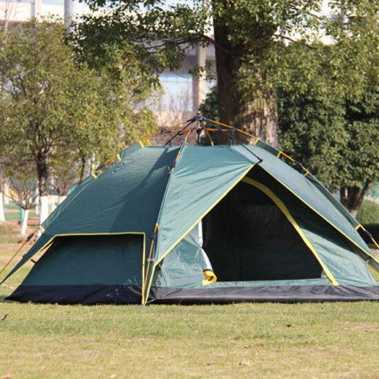 Mycolor:♚MYCOLOR♚氣壓式全自動帳篷雙層戶外裝備雙人野營快速3-4人家庭海邊草地【I02】