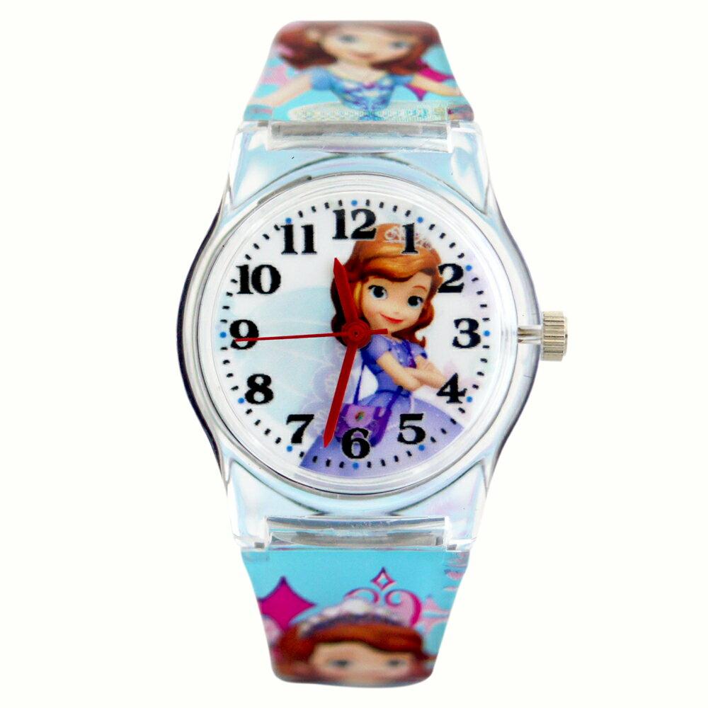 Disney 迪士尼 正版授權蘇菲亞小公主卡通膠錶 0