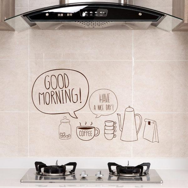 PS Mall 透明自粘贴纸灶台耐高温防油贴 玻璃貼 吸水貼 廚房貼紙 防水貼裝飾貼 【J1214】 0