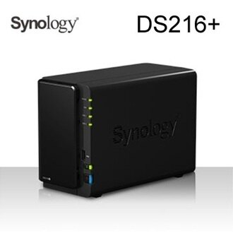 群暉 Synology DS216+ 2Bay 網路儲存伺服器Celeron N3050雙核1.6/1G/2bay,Max 16TB(8TB*2)/2Y DS216Plus