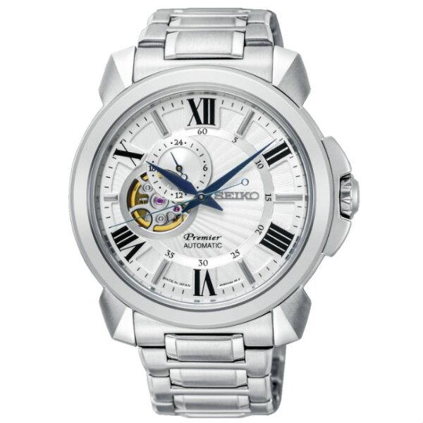 Seiko精工錶Premier4R39-00S0S(SSA369J1)紳士都會小秒針機械腕錶白面43mm