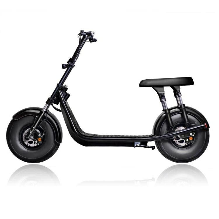 台灣現貨 電動車 啟牛X哈雷電瓶車成人新款雙人大輪胎電動摩托車跑車自行車 LX 美物