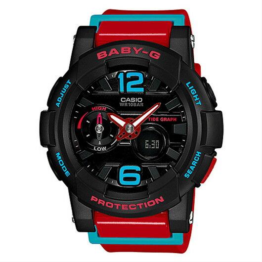 CASIO BABY-G BGA-180-4B衝浪滑板雙顯流行腕錶/黑面44mm