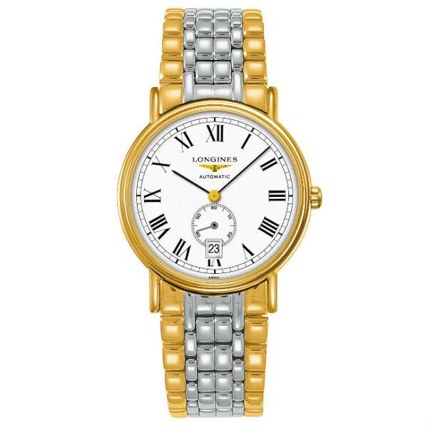 LONGINES浪琴表當代系列L48052117經典羅馬腕錶白面38.5mm