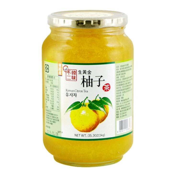 韓味不二柚子茶飲組 1公斤 X 2入