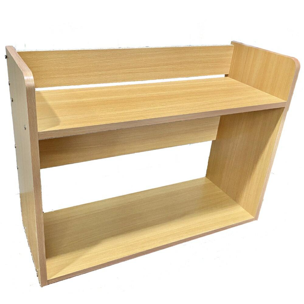 桌上書架/書櫃/螢幕架/置物架【尊爵家】尼客優雅雙層桌上小型書架53.5x20x40cm Monarch