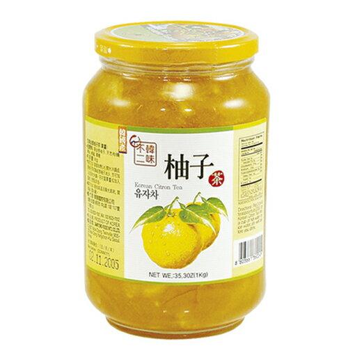 <br/><br/>  韓味不二生黃金柚子茶(果醬)1kg【愛買】<br/><br/>