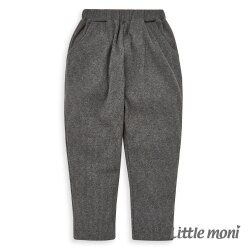 Little moni 羅紋針織哈倫褲-鐵灰