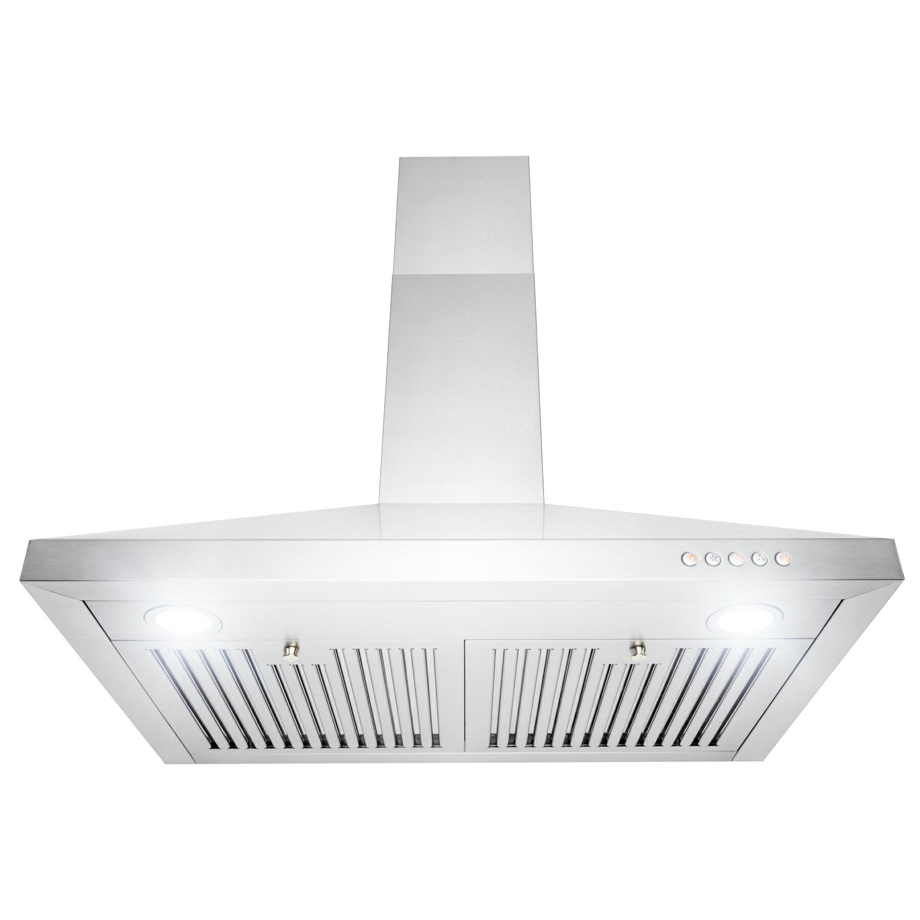 "AKDY Wall Mount Range Hood –30"" Stainless-Steel Kitchen Hood Fan– 3-Speed  Professional Motor –Push Control Panel with LED Lighting – Pyramid Modern  ..."