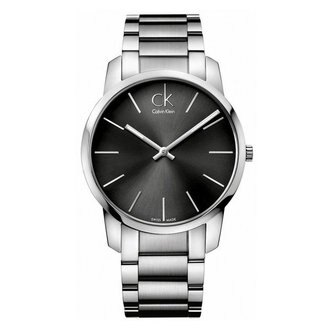 CK CITY(K2G21161+K2G23161)城市經典簡約腕錶/黑面43+31mm