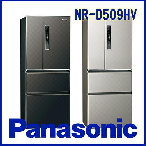 奇博網:Panasonic國際牌500LECONAVI無邊框鋼板系列NR-D509HVS銀河灰K星空黑