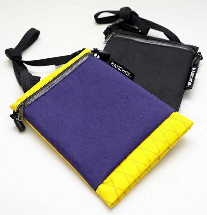 【HANCHOR 台灣】SURFACE MINI 輕量化斜背包-紫黃色 護照包 旅行隨身袋 (OD05)