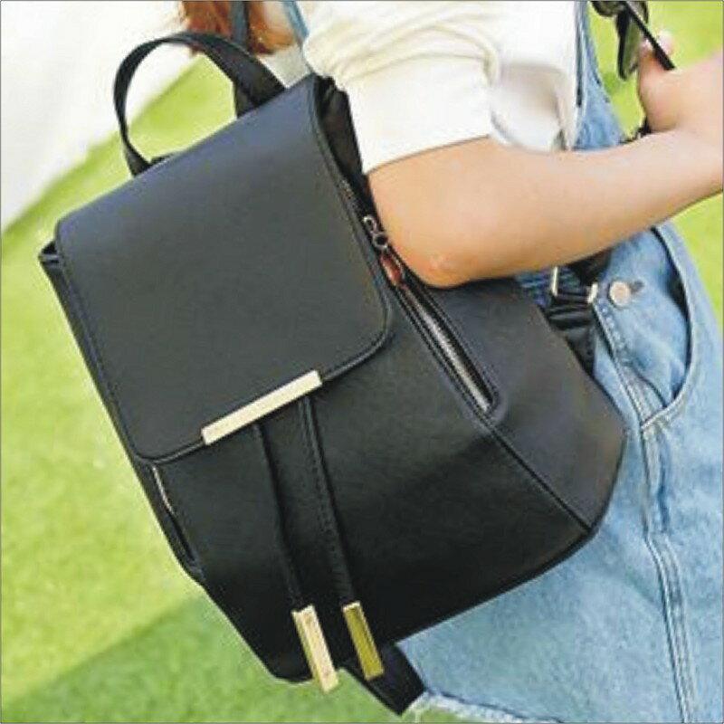 【防潑水十字紋後背包】 韓版流行後背包 學院風旅行包 書包 時尚玩包