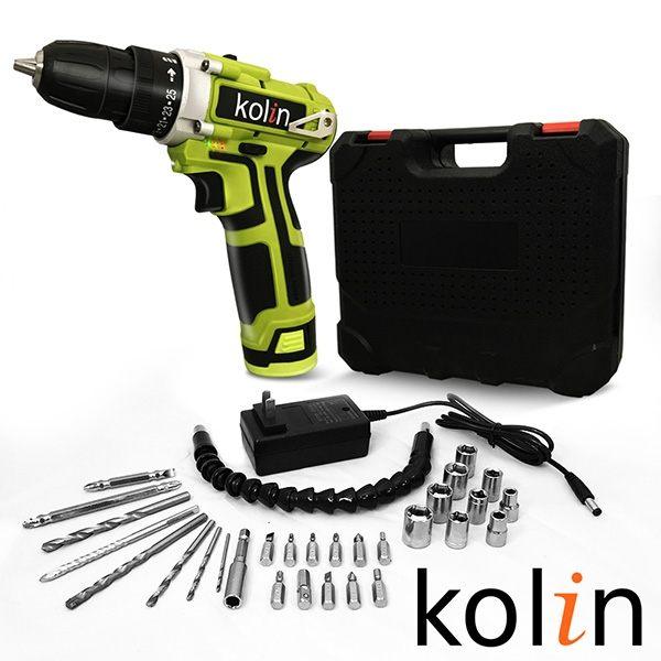 【領券現折+滿3千10%點數回饋】歌林Kolin 12V鋰電25段雙速電動鑽全配組(LS1202A) 1
