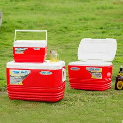 【買就送冷媒】PINNACLE冰桶組-紅 HK-ER3(57L+33L+11L) 戶外冰桶/露營用/BBQ 贈冷媒三入組