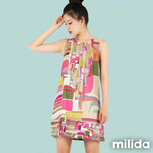 【Milida,全店七折免運】-春夏商品-無袖款-氣質款洋裝