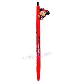 【真愛日本】17122500003 日本製按壓原子筆-Q萌抱抱紅 迪士尼 米老鼠 米妮 米奇 公仔原子筆 文具