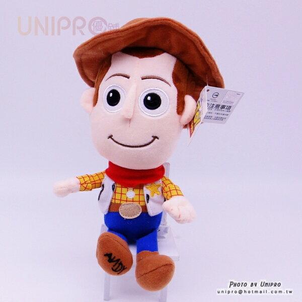【UNIPRO】迪士尼正版胡迪警長Q版21公分絨毛玩偶娃娃禮物WOODY玩具總動員