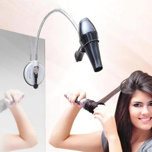 PSMall360度不銹鋼美髮吸盤吹風機支架【J1992】