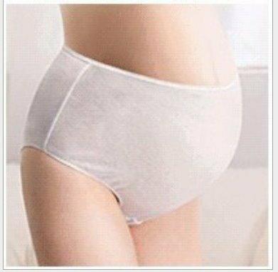*漂亮小媽咪*月子必備 麗子 棉質免洗褲 產婦型 孕婦高腰款免洗內褲 5入 RK003-1PINK